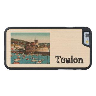 Toulon Mourillon Baie du Fort Francia Funda De iPhone 6 Carved® Slim De Arce