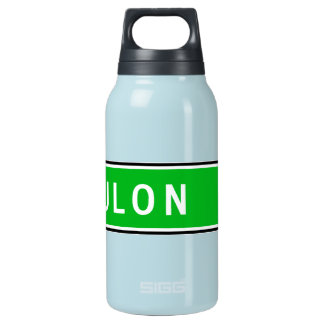 Toulon, Road Sign, France Insulated Water Bottle