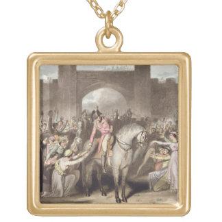 Toulouse, 10th April 1814, from 'The Victories of Square Pendant Necklace