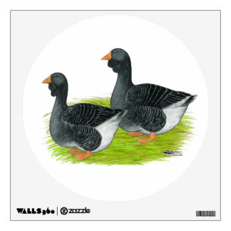 Toulouse Dewlap Geese Wall Sticker