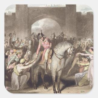 Toulouse, el 10 de abril de 1814, 'de las pegatina cuadrada