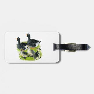Toulouse Goose Family Bag Tag