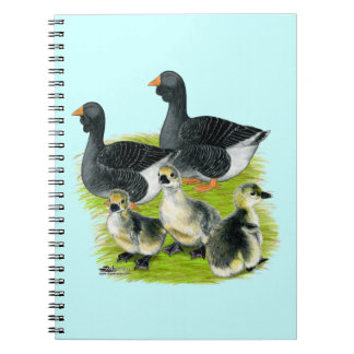Toulouse Goose Family Spiral Notebook