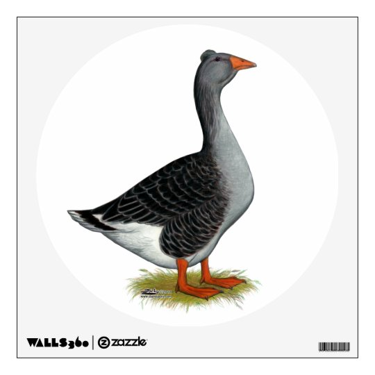 Toulouse Goose Tufted Wall Decal