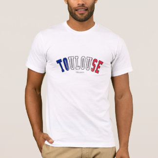 Toulouse in France national flag colors T-Shirt