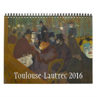 Toulouse-Lautrec 2016 Calendar