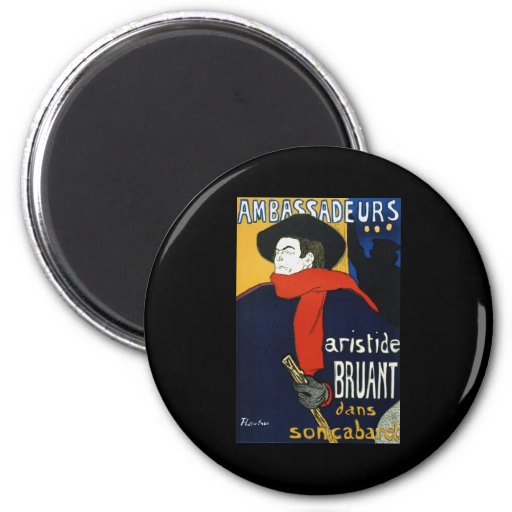 Toulouse-Lautrec Ambassadeurs Aristide Bruant Imán Redondo 5 Cm