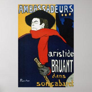 Toulouse-Lautrec Ambassadeurs Aristide Bruant Impresiones