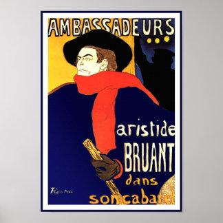 Toulouse Lautrec Ambassadeurs Aristide Bruant Poster