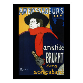 Toulouse-Lautrec Ambassadeurs Aristide Bruant Postales