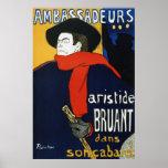 Toulouse-Lautrec Ambassadeurs Aristide Bruant Poster