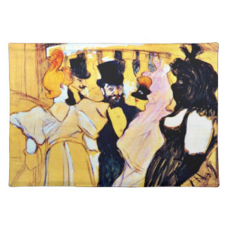 Toulouse-Lautrec art: At the Opera Cloth Place Mat