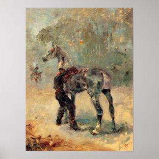 Toulouse-Lautrec - artillero y su caballo Posters