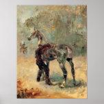 Toulouse-Lautrec - Artilleryman and his horse Print