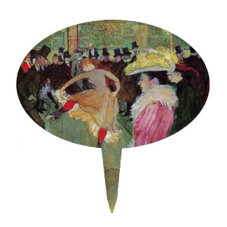 Toulouse-Lautrec, At the Rouge Cake Topper