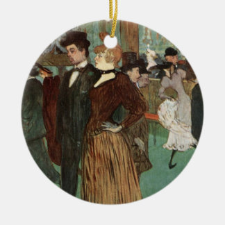 Toulouse-Lautrec: At the Rouge Ceramic Ornament