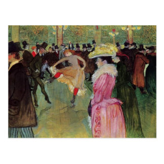 Toulouse-Lautrec, At the Rouge, The Dance Post Card