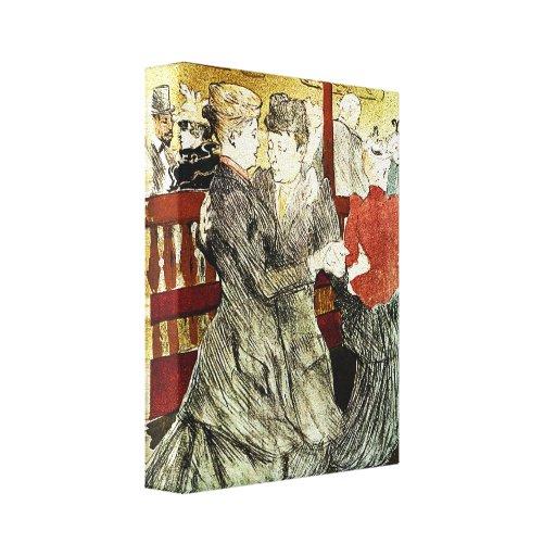Toulouse-Lautrec - baile en el colorete Impresiones En Lona