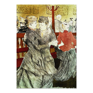 Toulouse-Lautrec - Dancing at Rouge Card