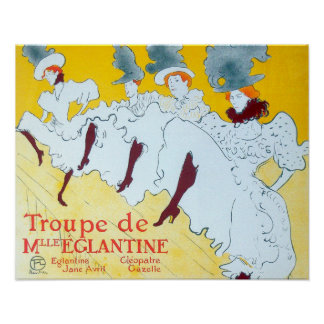 Toulouse-Lautrec Dancing Girls Poster