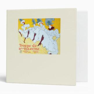Toulouse-Lautrec Dancing Girls Poster Vinyl Binder