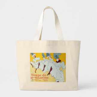 Toulouse-Lautrec Dancing Girls Poster Large Tote Bag