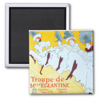 Toulouse-Lautrec Dancing Girls Poster Magnet