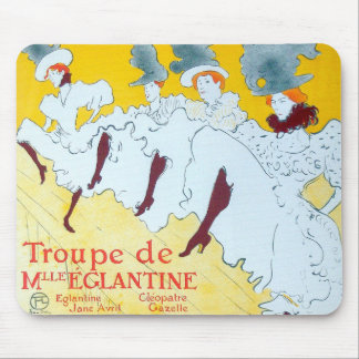 Toulouse-Lautrec Dancing Girls Poster Mouse Pad