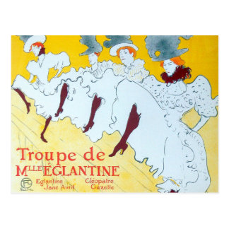 Toulouse-Lautrec Dancing Girls Poster Postcard