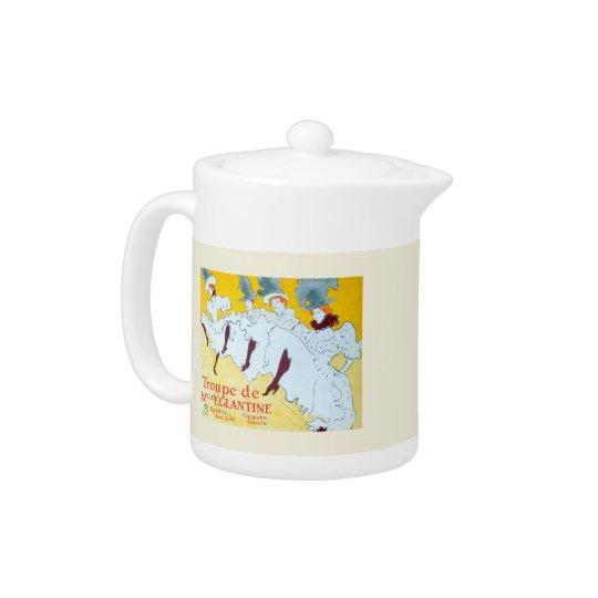 Toulouse-Lautrec Dancing Girls Poster Teapot
