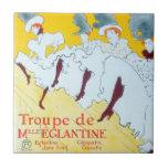 Toulouse-Lautrec Dancing Girls Poster Tile