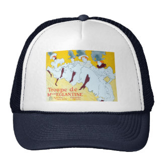 Toulouse-Lautrec Dancing Girls Poster Trucker Hat