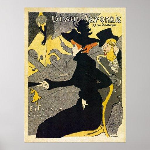 Toulouse Lautrec: Divan Japonais (music hall) Poster