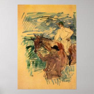 Toulouse-Lautrec - el jinete 3 Posters