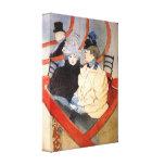Toulouse-Lautrec - el loge 2 Impresión En Lienzo Estirada