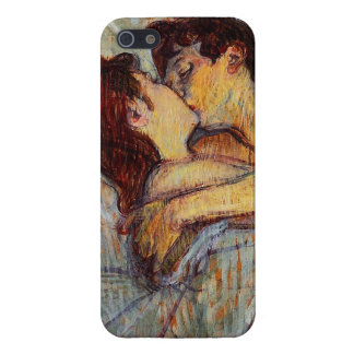 Toulouse-Lautrec en cama el caso del iPhone 5 del  iPhone 5 Funda