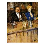 Toulouse-Lautrec - en el café, el cliente Postal