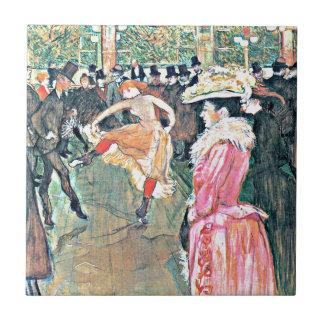 Toulouse-Lautrec: En el colorete Azulejo Cuadrado Pequeño