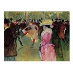 Toulouse-Lautrec, en el colorete, la danza Tarjetas Postales