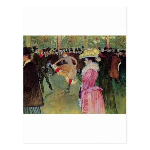 Toulouse-Lautrec, en el colorete, postal