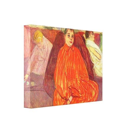 Toulouse-Lautrec - en las divas del salón Lona Estirada Galerías