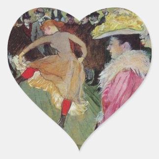 Toulouse-Lautrec, en los pegatinas del colorete Pegatina En Forma De Corazón