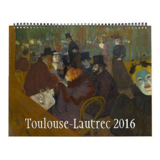 Toulouse-Lautrec Huge 2016 Calendar