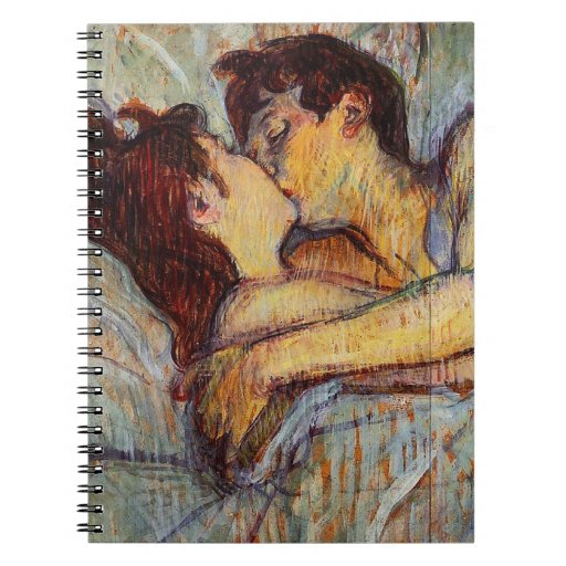 Toulouse-Lautrec In Bed The Kiss Notebook