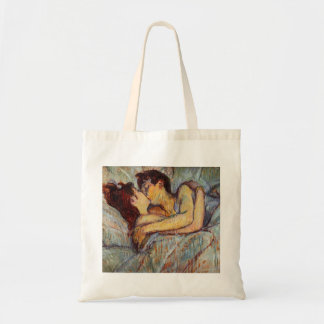 Toulouse-Lautrec In Bed The Kiss Tote Bag