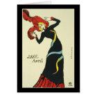 Toulouse-Lautrec Jane Avril Card