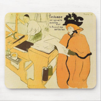 Toulouse-Lautrec - Jane Avril checking a print sam Mousepads