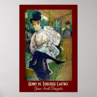 Toulouse-Lautrec: Jane Avril Danzante Poster