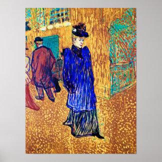 Toulouse Lautrec: Jane Avril deja el R. Poster