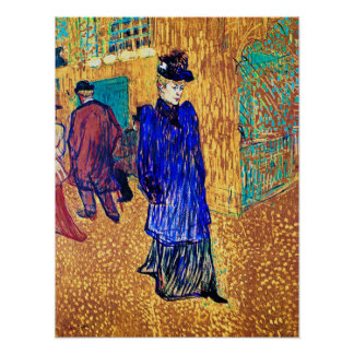 Toulouse Lautrec: Jane Avril deja el R. Posters